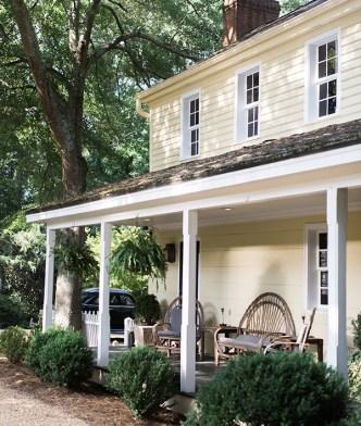 Light yellow farmhouse in Athens, GA   Waiting on Martha