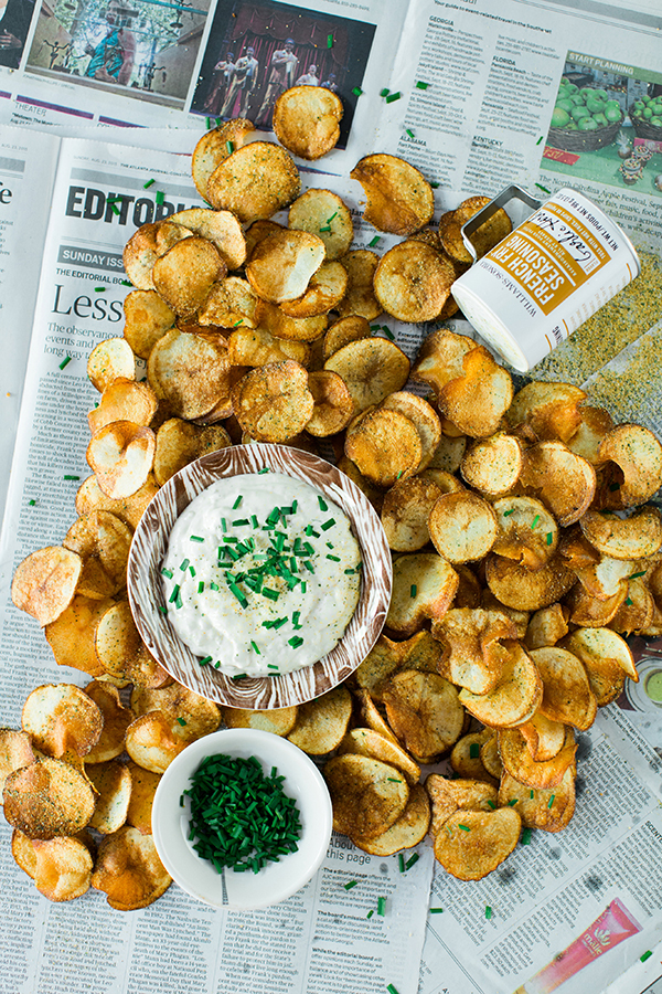Homemade French Onion Dip with Kettle Cooked Chips recipe, Waiting on Martha