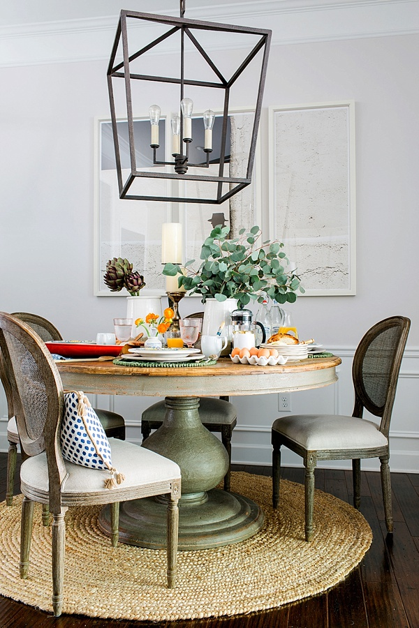 Setting a table for weekend brunch, Waiting on Martha