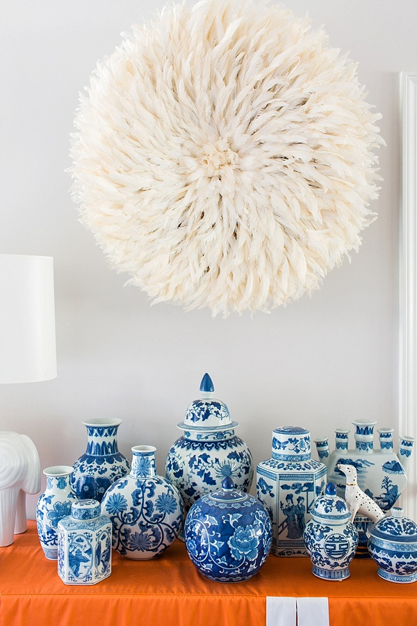 Juju hat and ginger jars, home entryway inspiration via Waiting on Martha