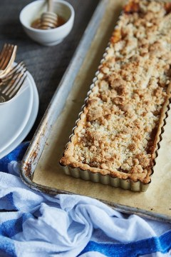 Pear and Apple Crumb Tart