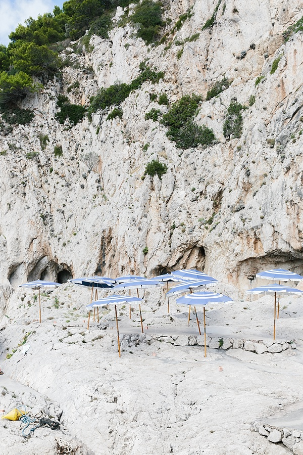 Striped umbrellas on Capri