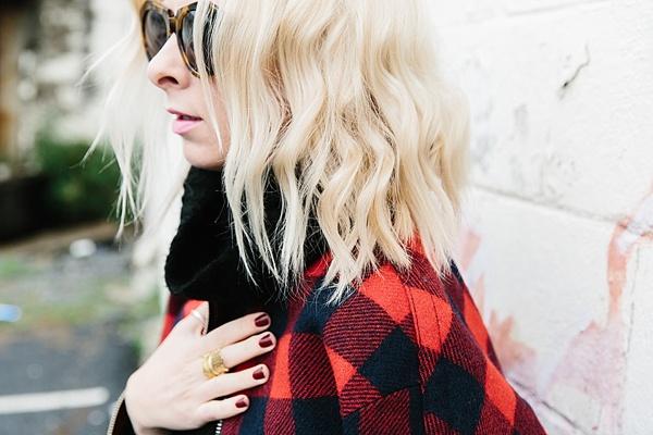 Lumberjack plaid jacket via Waiting on Martha