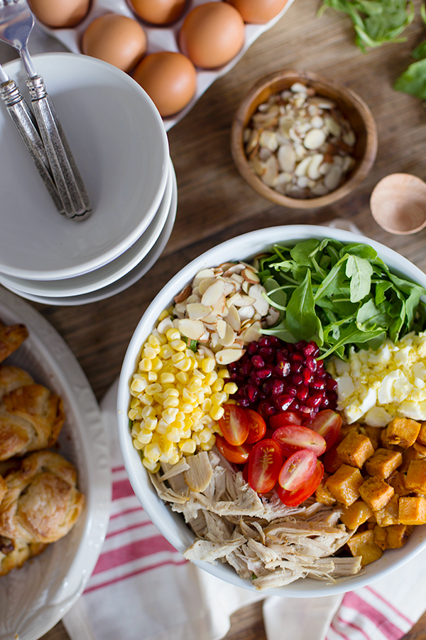 Turkey Garbage Salad Recipe with Thanksgiving Leftovers