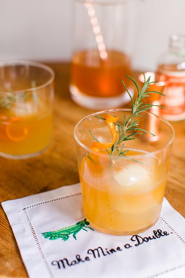 Orange bourbon cocktail recipe via Waiting on Martha