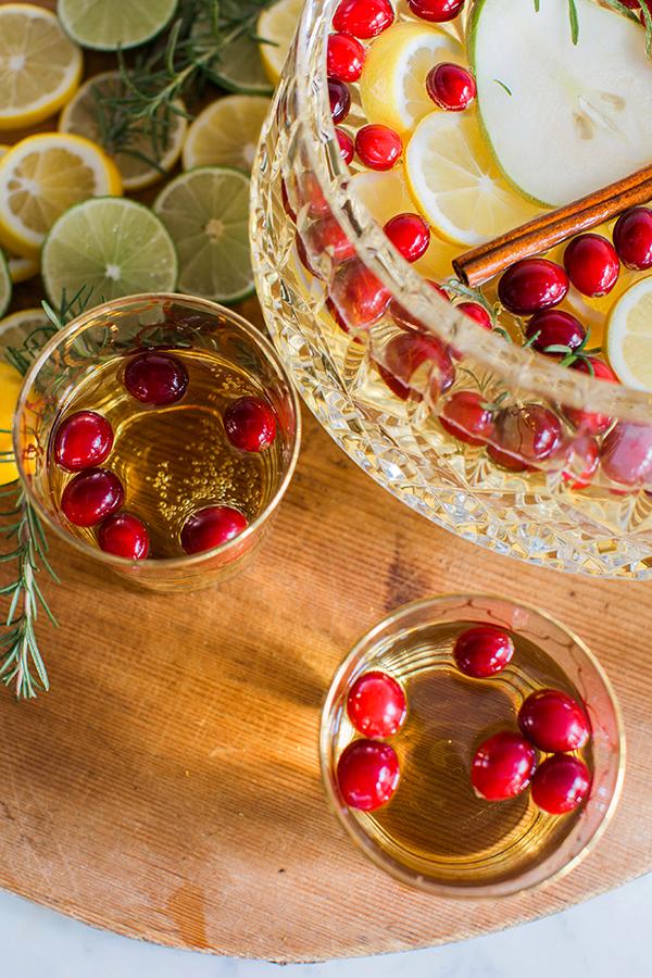 Sparkling Sangria Cocktail Recipe via Waiting on Martha