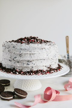 Chocolate ganache oreo cake via Waiting on Martha