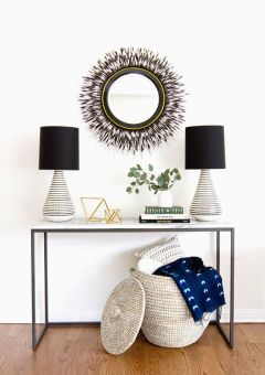 Chic organization ideas & decorating with baskets