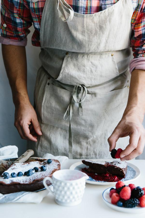 Chocolate cake with raspberry sauce | Waiting on Martha