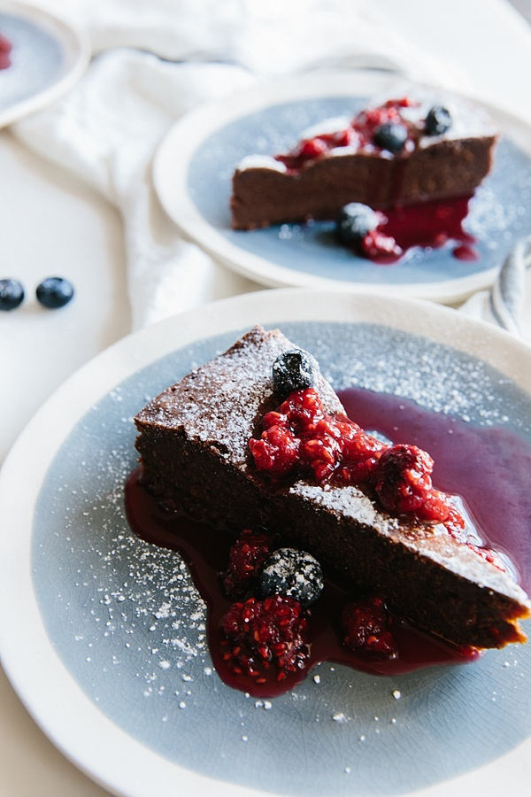 Chocolate cake with raspberry sauce | Waiting on Martha