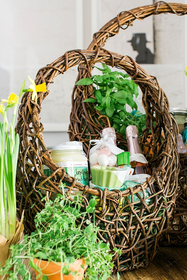 Champagne filled adult Easter Basket Ideas, Waiting On Martha