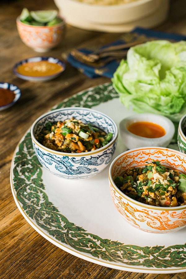 Spicy vegan lettuce wraps recipe by Waiting on Martha