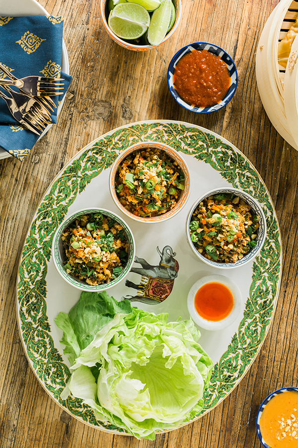 Spicy vegan lettuce wraps recipe | waitingonmartha.com