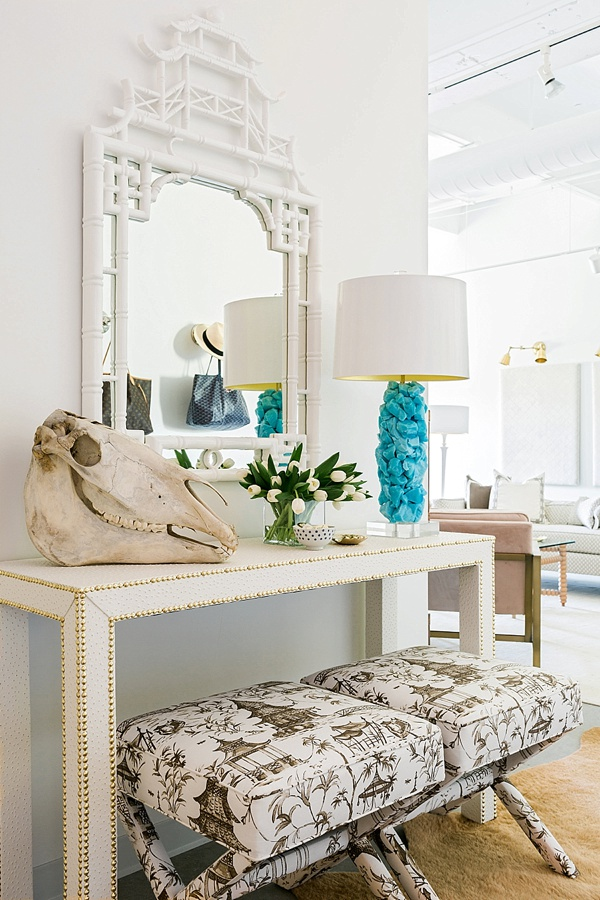 Foyer styling by Waiting on Martha in The One Room Challenge 2016