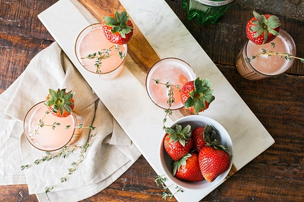 Strawberry gin fizz cocktail by Waiting on Martha