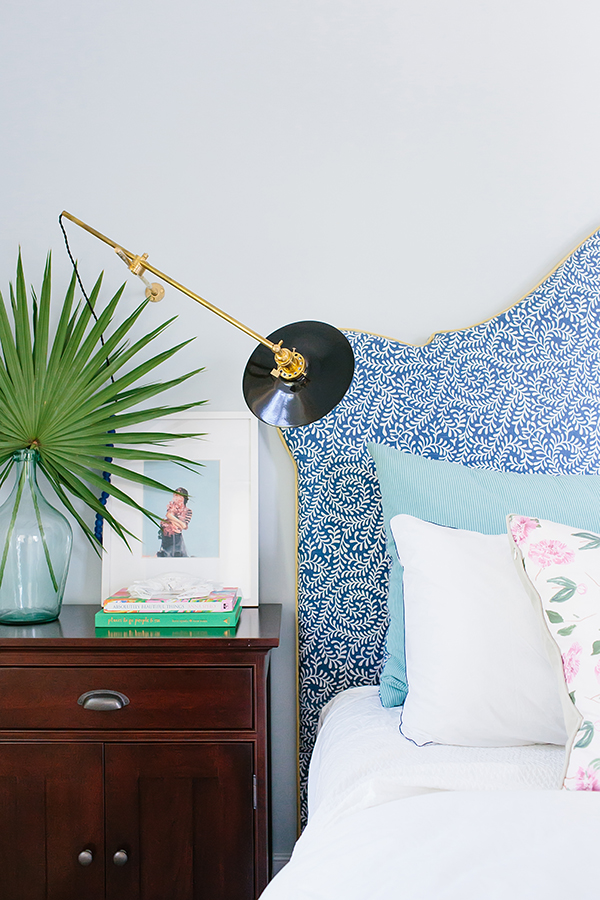 Bedroom vignette with affordable art from Etsy | waitingonmartha.com