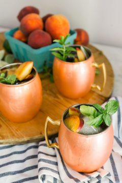 Peach Moscow Mule recipe, Waiting on Martha