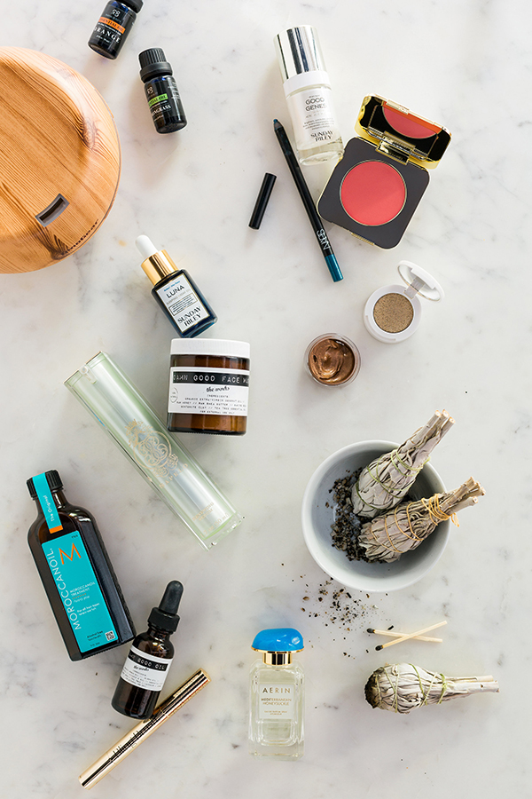 Essential oils, white sage smudge sticks, renewing serum, all natural face wash & more | @waitingonmartha