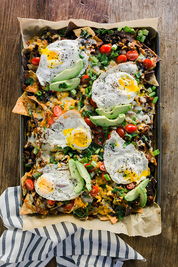 Vegetarian breakfast nachos recipe by @waitingonmartha