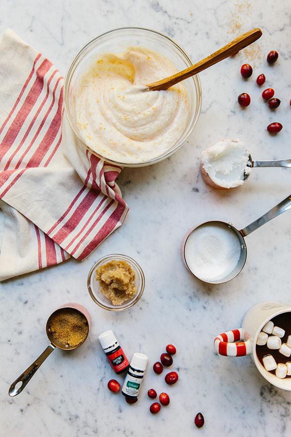 DIY Citrus & Sugar Peppermint Body Scrub, The Well Code #keepyourwellfull