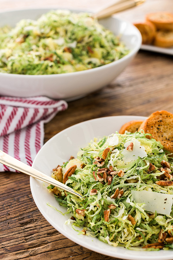 Brussels Sprouts Salad recipe by Waiting on Martha