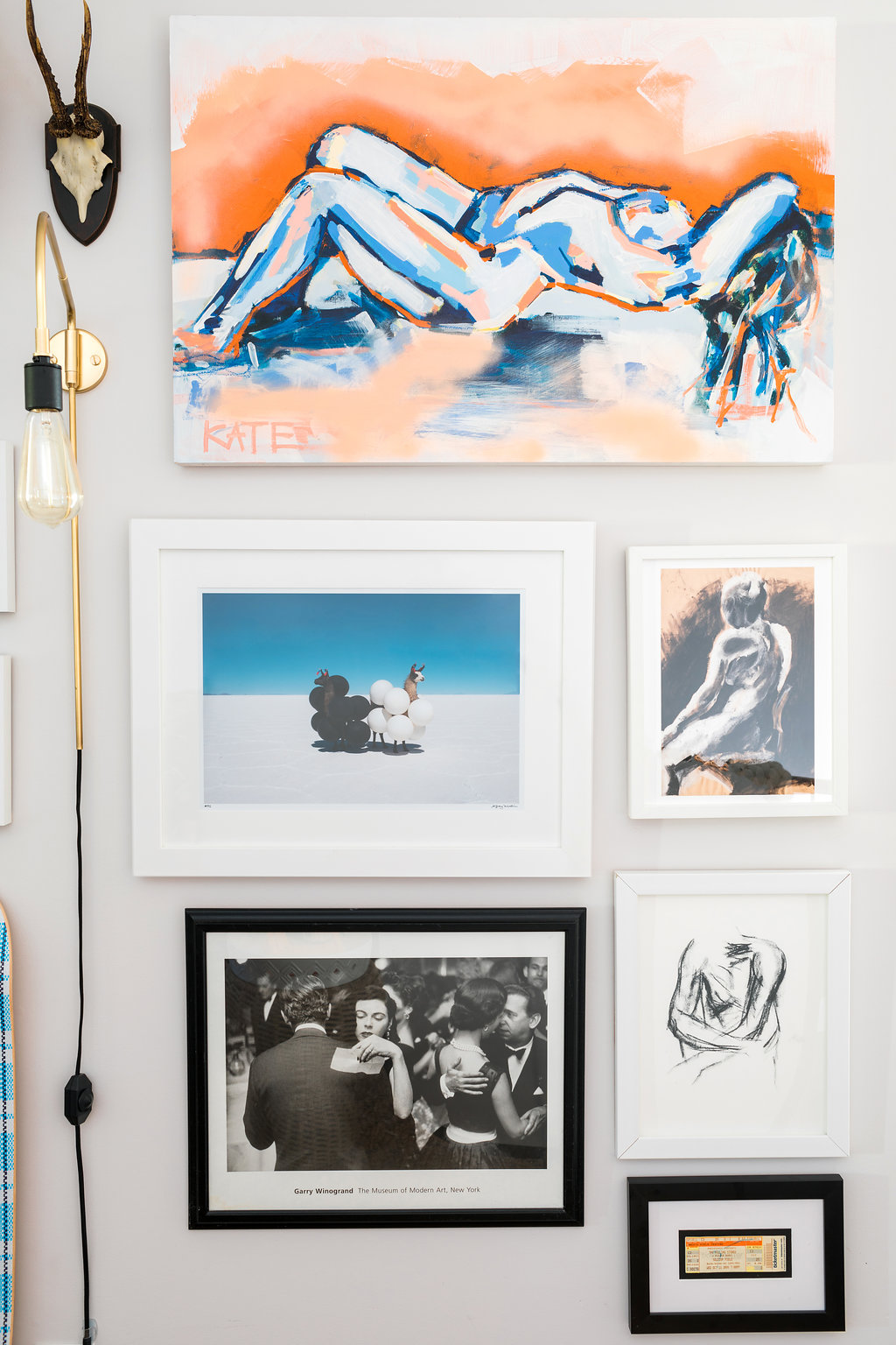 Colorful paintings & gallery wall ideas via @waitingonmartha