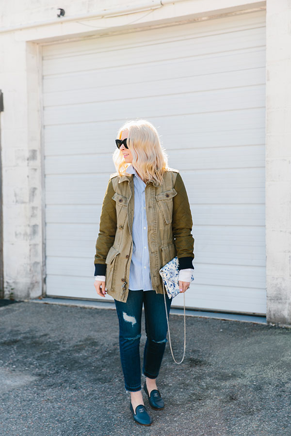 Military jacket outfit ideas for spring, Waiting on Martha