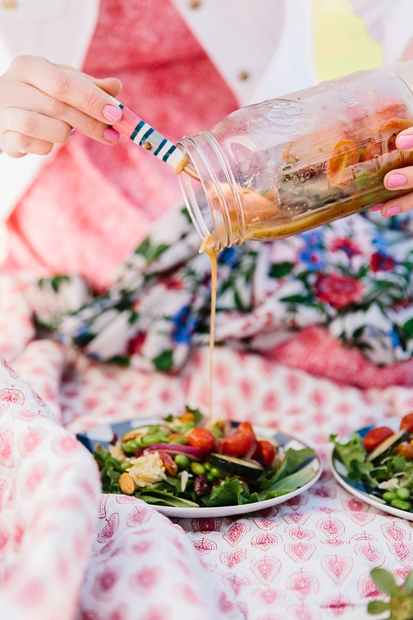 Mason Jar Salads for a Picnic in the Park, Waiting on Martha