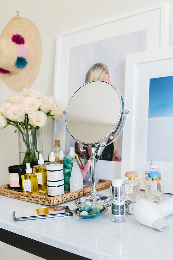 Vanity styling and skincare via Waiting on Martha