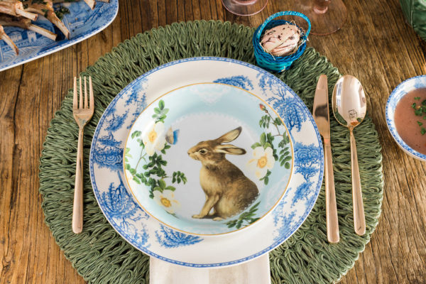 Easter place setting inspiration, waitingonmartha.com