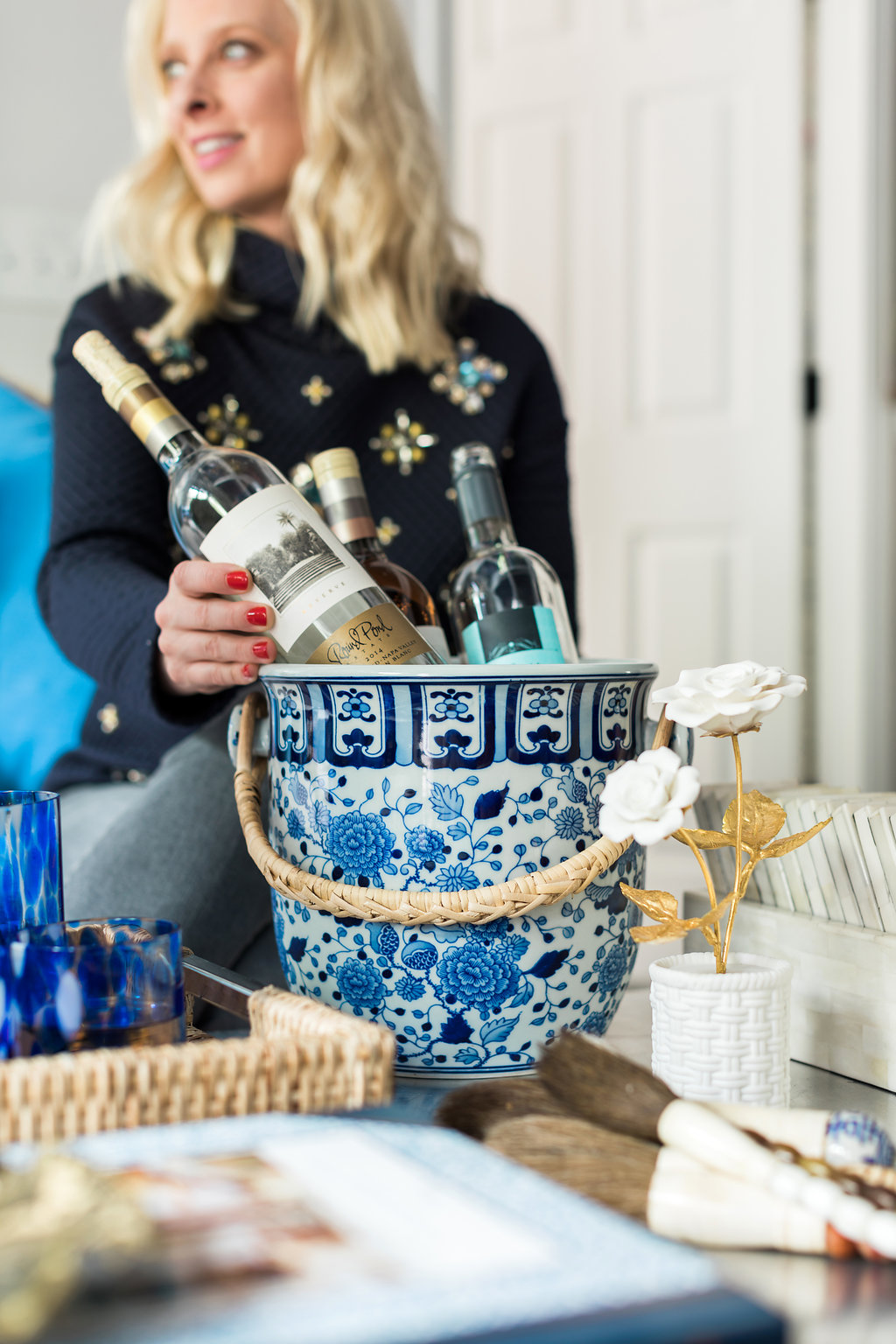 Blue Ginger Jar Champagne Bucket, AERIN x Williams-Sonoma | waitingonmartha.com