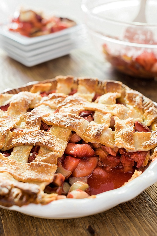 A Homemade Strawberry Rhubarb Pie Recipe | Welcome by ...