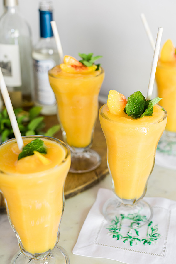 Peach white wine slushies, waitingonmartha.com