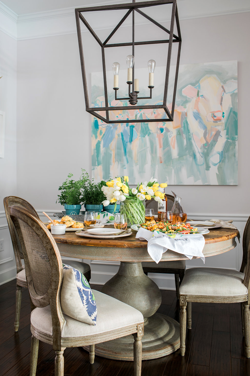 Summer tablescape on Waiting on Martha