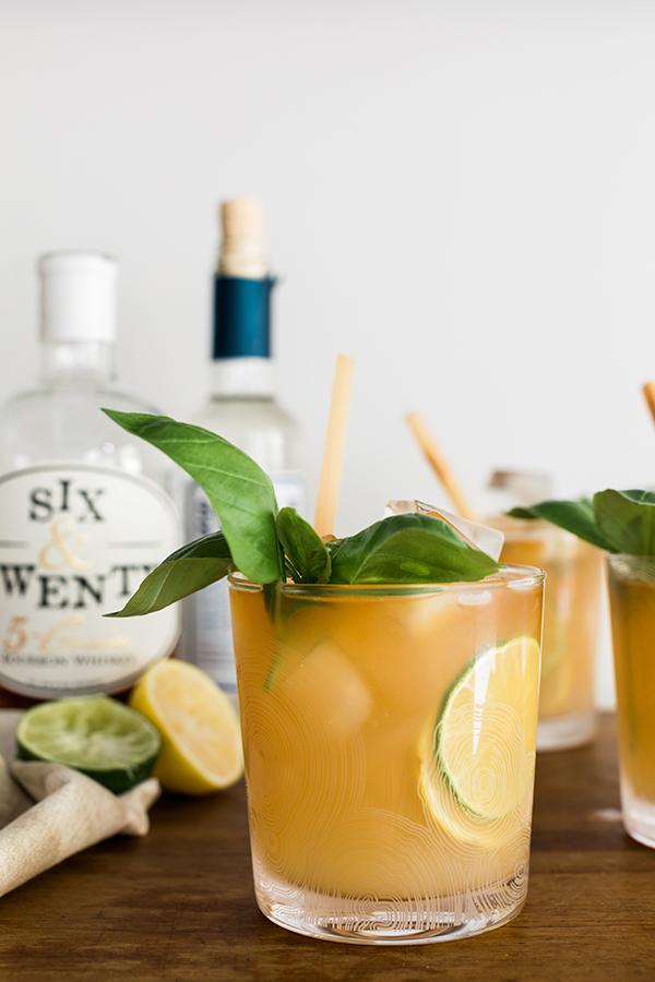 Citrus Bourbon Smash cocktail recipe on Waiting on Martha