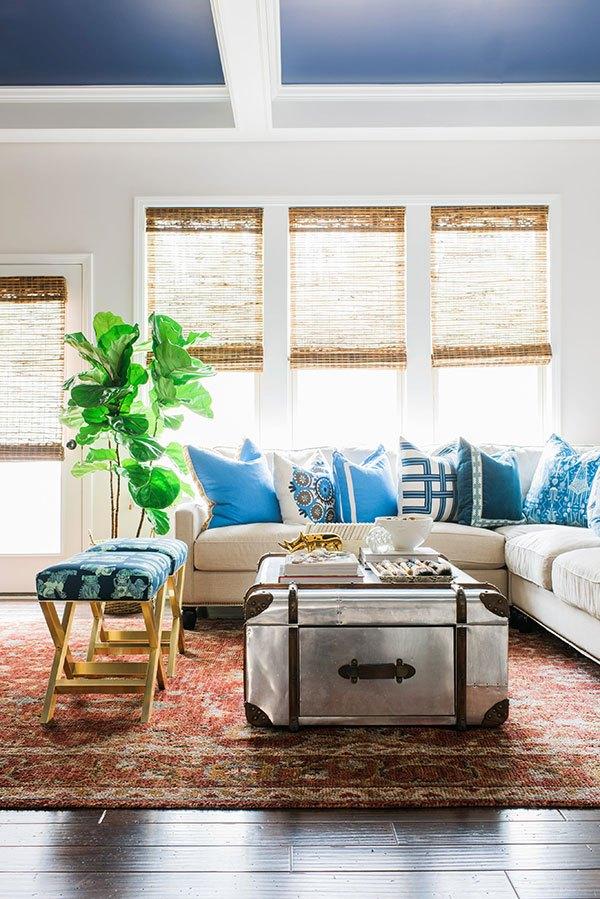 Blue & White Living Room, 2017 One Room Challenge, Waiting On Martha