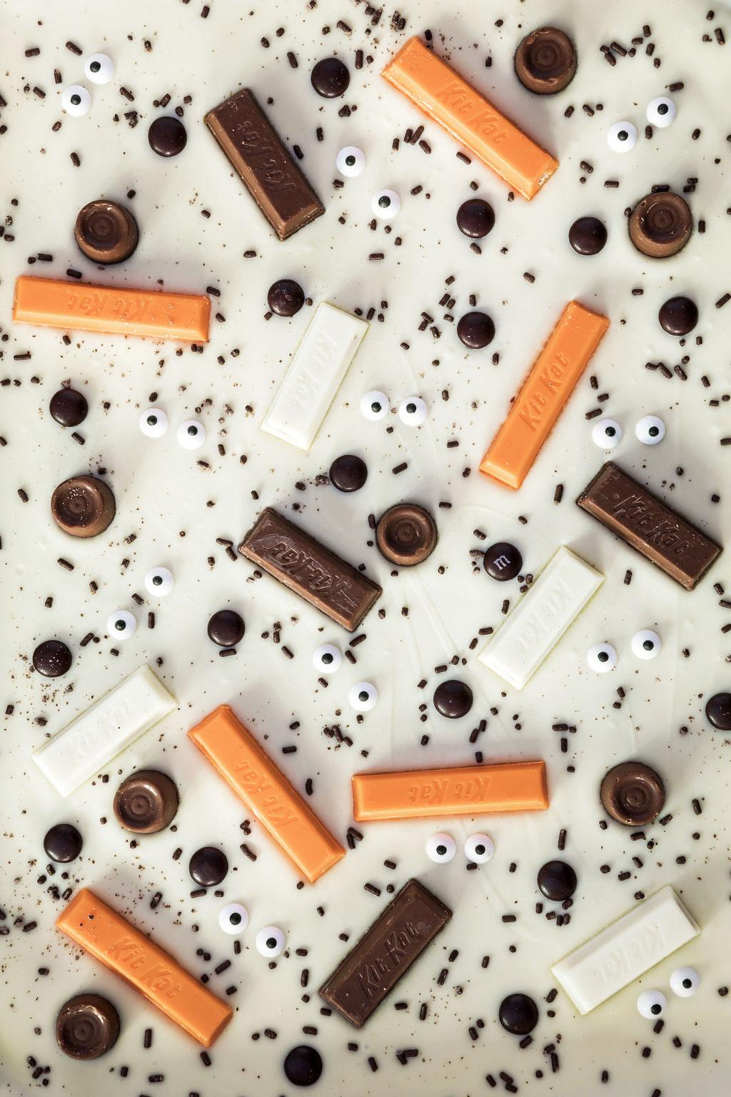 Homemade Halloween Chocolate Candy Bark
