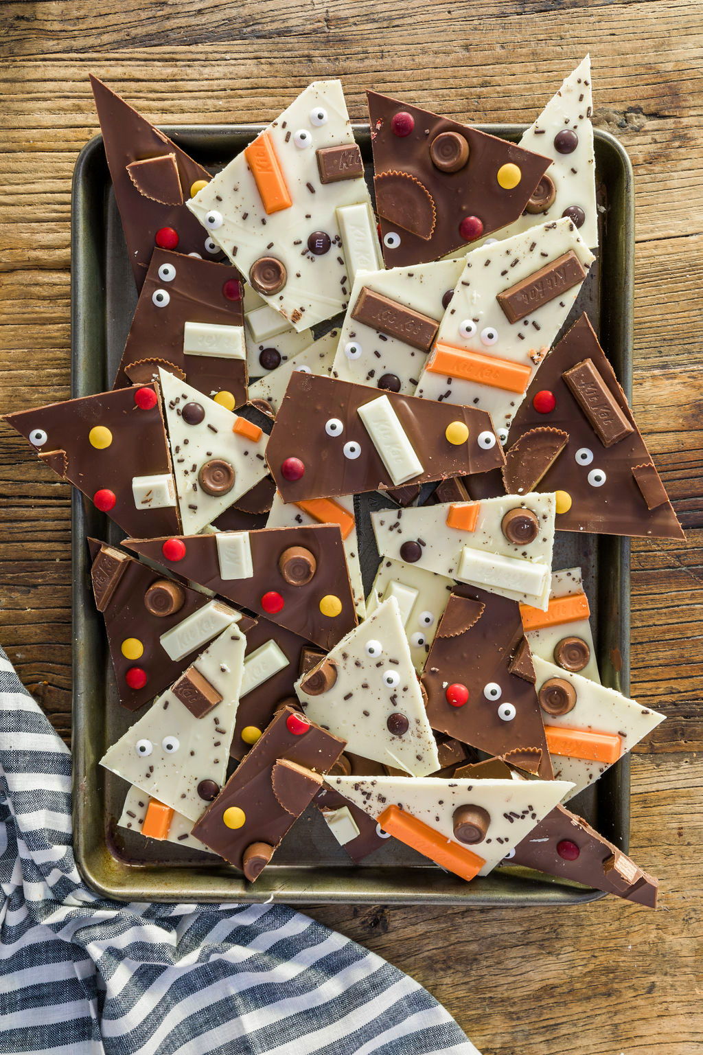Homemade Halloween Chocolate Candy Bark
