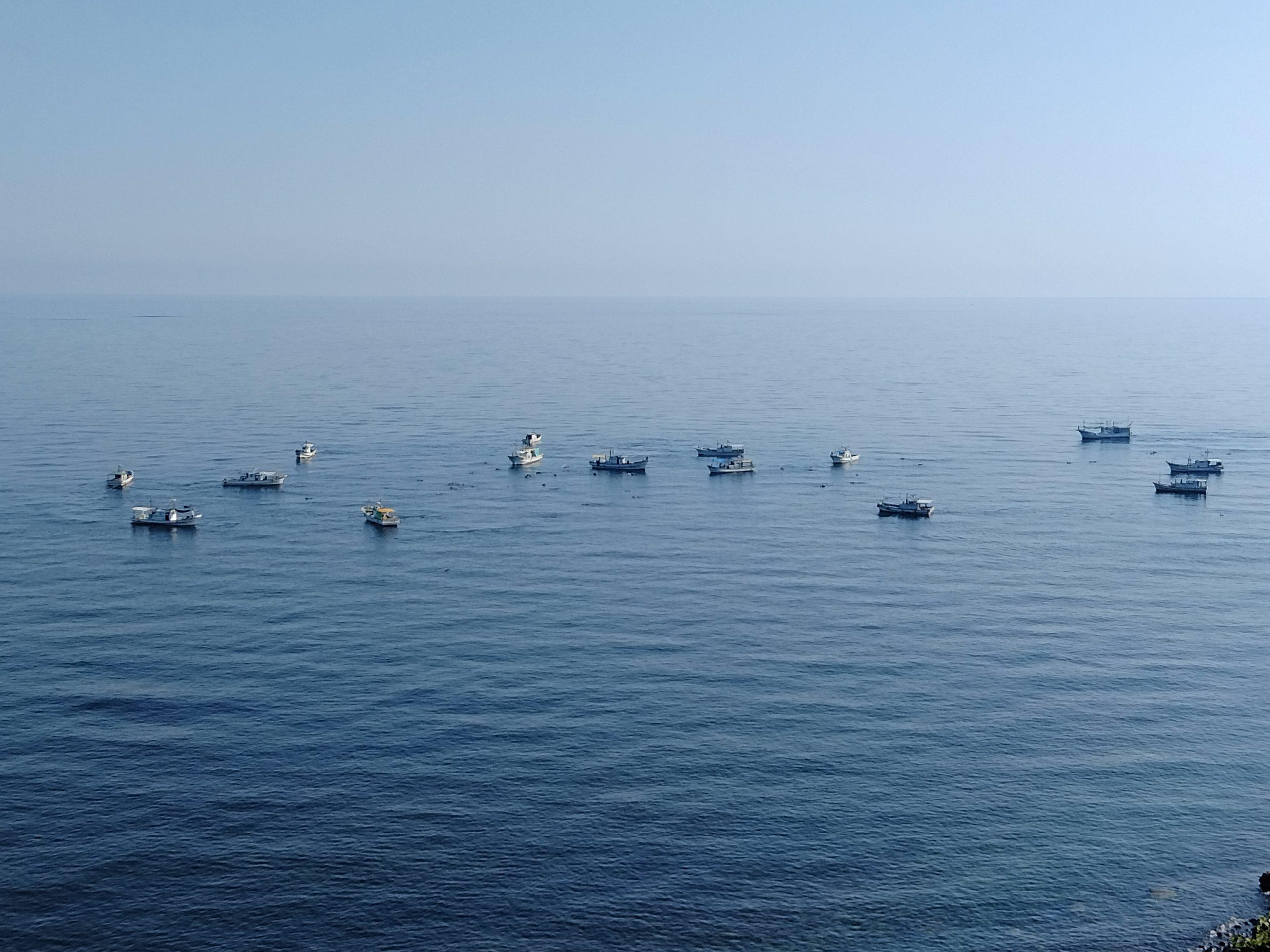 今朝の輪島市(海女漁)