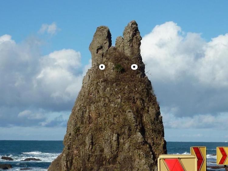 剱地権現岩(トトロ岩)