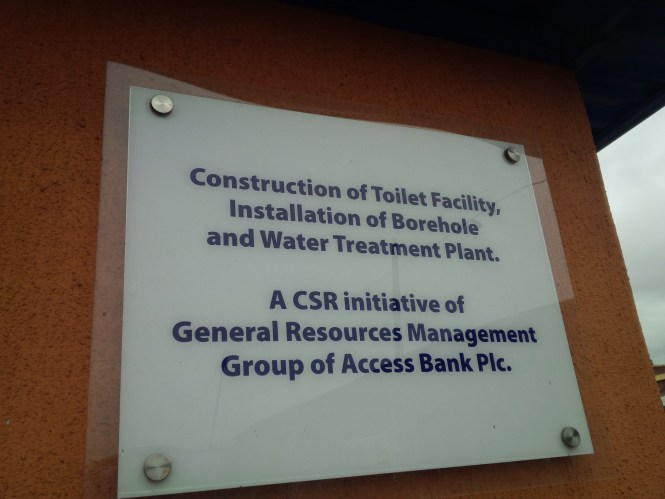 This was achieved through the LOTS Charity Foundation. Residents pay N50 (maintenance charge) to use this facility.