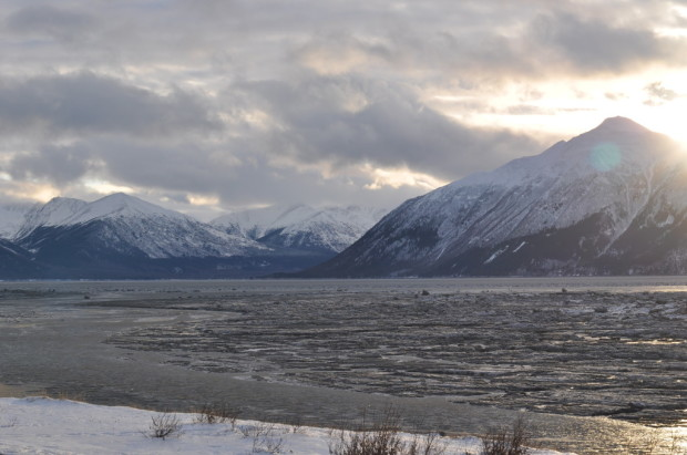 Looking up the Turnagain Arm