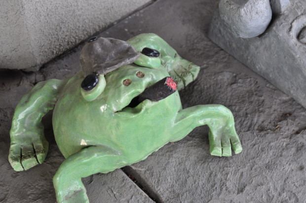 Stephen had a ceramic frog art phase