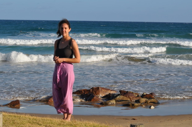 Standing on Eastern View Beach in front of the Southern Ocean