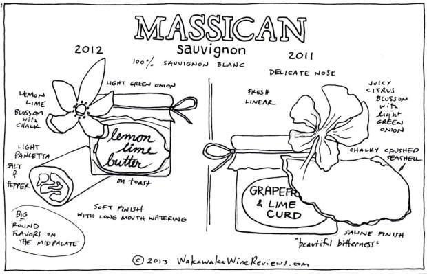 Massican Sauvignon 2012 and 2011