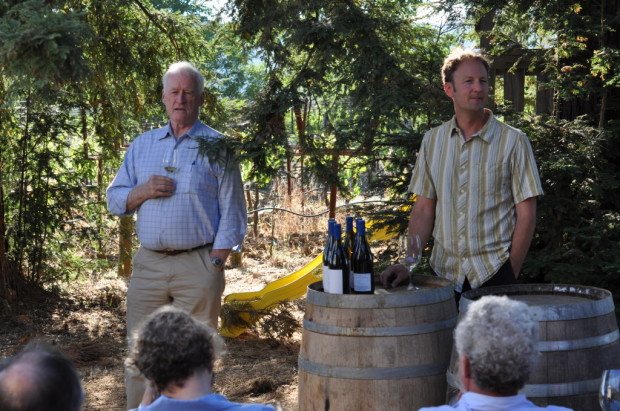 George Vare and Steve Matthiasson discussing the Vare Vineyard
