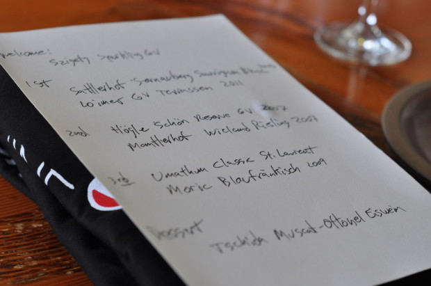 Austrian Lunch Wine Itinerary