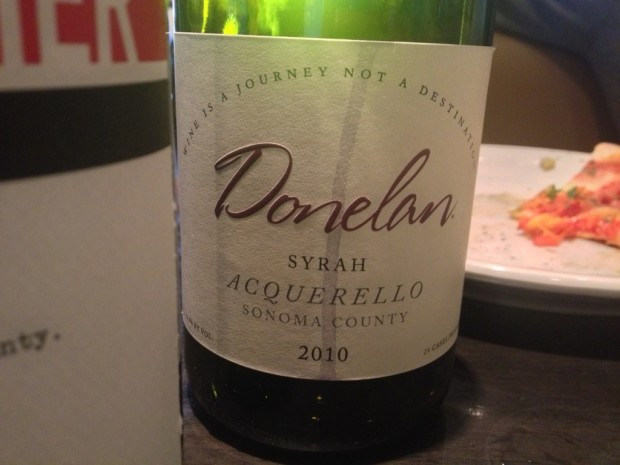 Donelan Acquerello at the end of lunch