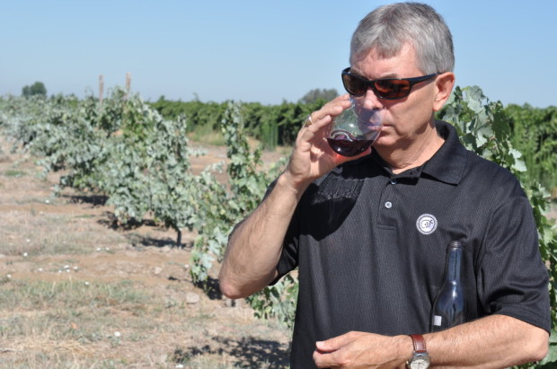 Tasting Estate Crush Old Vine Cinsault from Bechthold Vineyard with Nick Sikeotis