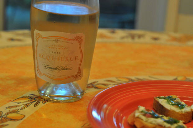 Tasting Grenache Blanc with dinner